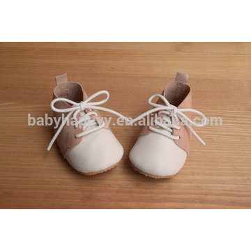 lace up rubber sole suede leather oxford baby shoes with lace