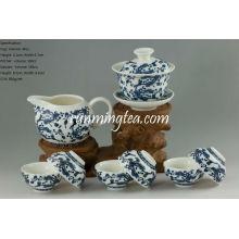 Ensemble de théière en porcelaine à fleurs Ganoderma Lucidum