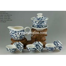 Ganoderma Lucidum Flower Porcelain Teaware Set