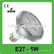 Conception de la maison moderne 5w haute puissance 110LM / W 85V-265V pousser la lumière menée