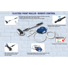 JS-Lackiersystem Electric Power Farbroller für Wände und Decken DIY 45W mit Pinsel JS610GT