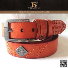 Cinturón de material de cuero genuino de alta calidad personalizado de China
