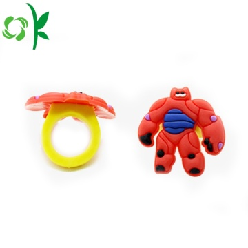 Hot Sälj Superman Silikon Ringar Barn Souvenir Ring