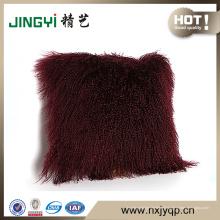 Wholesale tibétain mongol agneau fourrure housse de coussin