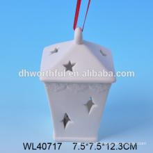 Vente chaude de porcelaine blanche maison de noël conduit en gros en haute qualité