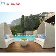 Salon moderne de soleil d'osier de jardin de patio de meubles de rotin extérieur (GS-0005)