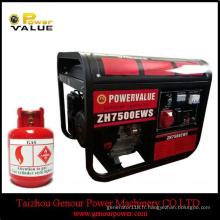 avec le générateur de gaz de LPK de kit de pneu 6kw 6kVA à vendre