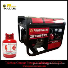 with Tire Kit 6kw 6kVA LPG Gas Generator for Sale
