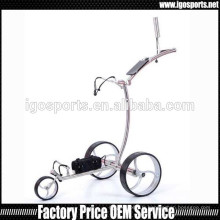 Chariot de golf en acier inoxydable