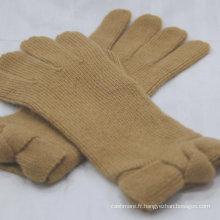 Gants chauds de cachemire d'approvisionnement d'usine 100% de gants purs de cachemire