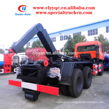 Dongfeng 6*4 garbage truck with detachable container