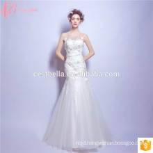 Guangzhou Factory Custom Made Sexy Lace Applique Mermaid Wedding Dress Patterns