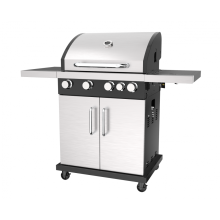 Four Burner Gas BBQ Grill With Side Burner