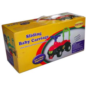 Impressão de caixa de papelão ondulado para o transporte de bebê deslizante