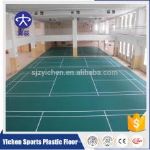Tapete de piso antiderrapante portátil badminton de material orgânico de PVC