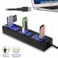 10-port usb 3.0 hub with power adapter