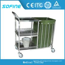 SF-HJ4030 Krankenhaus verwenden Edelstahl Trolleywagen