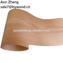 Chapa de la cara de madera de roble rojo natural de corte rotatorio para madera contrachapada