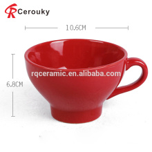 Kundenspezifisches Logo 12oz nestle nescafe keramischer roter Becher