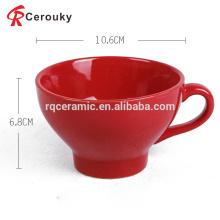 Custom logo 12oz nestle nescafe ceramic red mug