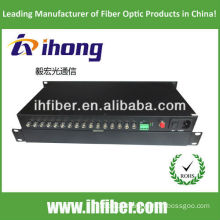 Fiber Optic Video Converter 16 channels singlemode 20km high end quality