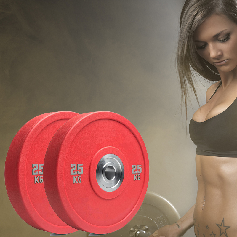 Gym Barbell Rubber Bumper Weight Plates