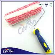 ColorRun 9''Double Color Rubber Plastic Handle Paint Roller Set