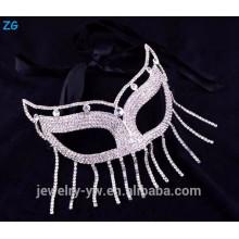 Vente en gros de masques de mascarade de fête de cristal pour la reine, masque sexy