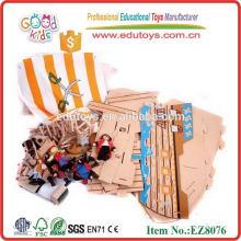 Gran buque pirata de madera 2014 nuevos juguetes del muchacho