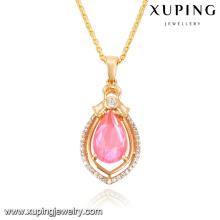 32686-young fashion jewelry 18k gold diamond quartz pendant