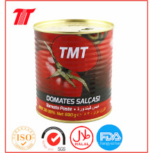 Pasta de tomate enlatada turca 400g da marca Tmt