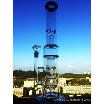 Fabrik Großhandel Hitman 47cm Borosilikat Material Glas Wasser Rohr