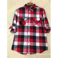 Camisa xadrez de mangas compridas masculina