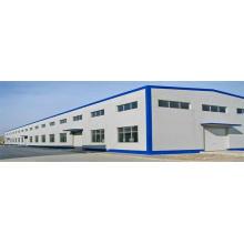 Estructura de marco de espacio de acero de gran tamaño de bajo costo Estructura de cobertizo de almacén