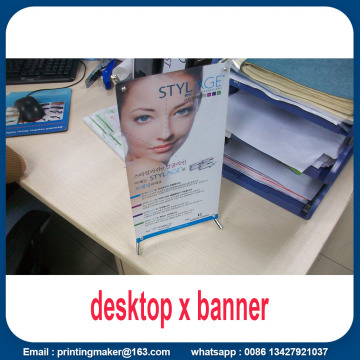 Mini Desktop X-banner Economist Tabletop Display