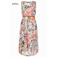 Vestido floral con alto bajo dobladillo