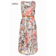 Цветочное платье с высокая низкая кромка
