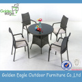 3pcs Outdoor Set Aluminiumrahmen PErattan Möbel