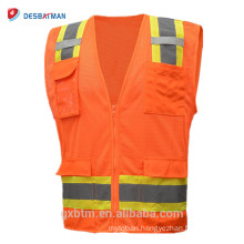 OEM ANSI Class 2 High Visibility Reflective Vest Cheap China Highlight Safety Waistcoat Clothing Safety Car Warning Jacket