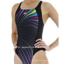 2014 nouveau design joli maillot de bain une pièce pour les femmes, maillots de bain dames