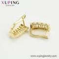 97153 xuping mode haute qualité 14k couleur doré pavé zircon dames boucles d'oreilles
