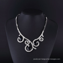 2016 Spray Design Fantasy Zinc Alloy Rhodium Necklace