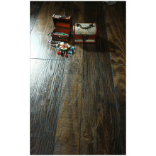12.3mm Hand Scraped Hickory Waxed Edged Laminate Floor