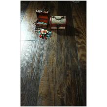 Piso laminado con textura encerado hickory de 12,3 mm y raspado a mano