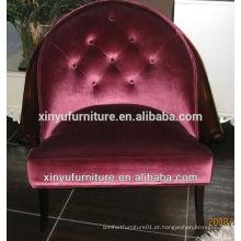 Projeto de hotel de 4 estrelas mobiliário comercial soild cadeira de madeira cadeira de braços XY2496
