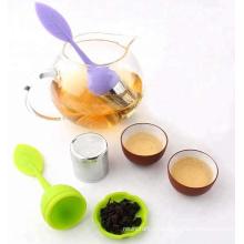 Infusor de chá de aço inoxidável com alça de silicone