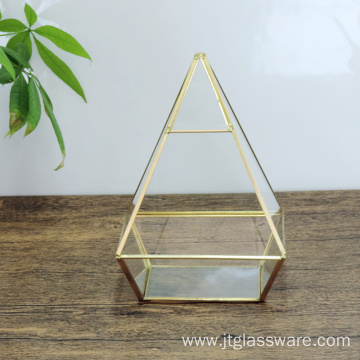 ODM for Hanging Geometric Glass Terrarium Pentahedron Pyramid Shape Glass Terrarium Decor supply to Barbados Suppliers