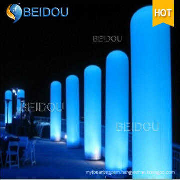 LED Inflatable Lighted Arch Tubes Cones Ivory Tusks Inflatable Pillars