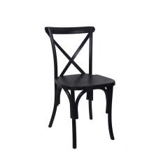 Estilo de país de cor preta Cruz volta cadeira de jantar