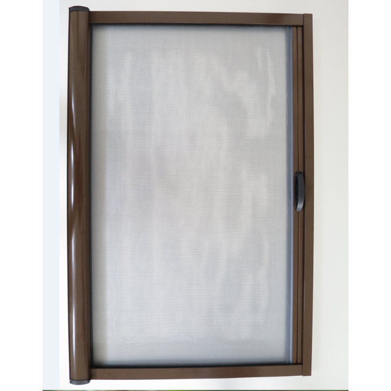 Aluminum sliding and retractable screen door